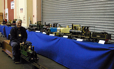 Photo of Polly loco display at London Engineering Exhibition.
